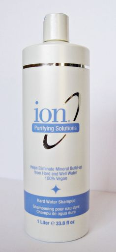 Ion Purifying Solutions Hard Water Shampoo. ion™ Hard Water Shampoo helps prevent build-up of hard and well water minerals. Increases manageability and helps reverse and prevent discoloration. Deep yet gentle cleansing safe for all hair types, including chemically-treated hair and can be used daily. | eBay!