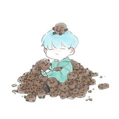 Find images and videos about kpop, bts and suga on We Heart It - the app to get lost in what you love. Bts Chibi, Bts Suga, Bts Bangtan Boy, Fanart Bts, Dibujos Cute, Bts Drawings, Fan Art, Bts Fans, Leprechaun