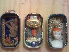 Cool little Tin Boxes... make your own work of art...would make cool tree ornaments