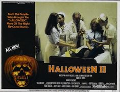 Halloween II - Lobby card with Jamie Lee Curtis. The image measures 929 * 710 pixels and was added on 1 January Halloween 2 1981, Halloween Film, Halloween Series, Halloween Ideas, Jamie Lee Curtis Halloween, Halloween Resurrection, Cartoon Songs, Donald Pleasence, Slasher Movies