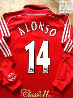 5c49c6a71 2006 07 Liverpool Home Premier League Football Shirt. Alonso  14 (L)