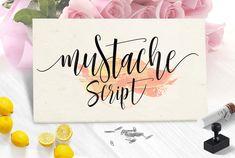 Mustache Script - 3 font + Swash by joelmaker on @creativemarket