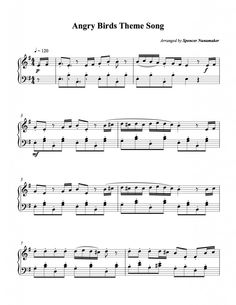 Angry Birds theme song sheet music