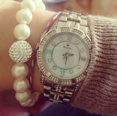 #Bulova and pearls in perfect harmony