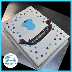 Onesie Buttercream Baby Shower Sheet Cake