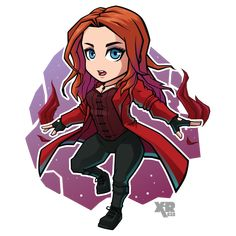 chibi marvel FA Scarlet Witch by Avengers Drawings, Avengers Cartoon, Marvel Cartoons, Marvel Avengers, Marvel Fan, Marvel Heroes, Captain Marvel, Captain America, Chibi Characters