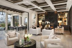 How to decorate Large modern living room, luxury restoration hardware style modern living room decor Art Deco Living Room, Living Room Modern, Interior Design Living Room, Living Room Designs, Living Rooms, Mediterranean Home Decor, Tuscan Decorating, Tuscan Style, Luxury Interior