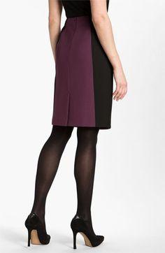 Cute color blocked skirt.  Halogen® Seamed Pencil Skirt | Nordstrom
