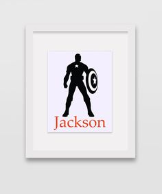 Personalized Captain America Print 8x10 by CleopatrasPearls