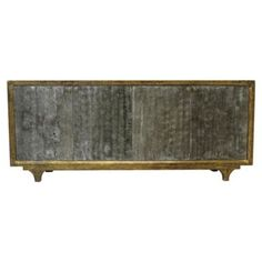 Check out this item at One Kings Lane! Tess Tall Sideboard, Graphite/Gold