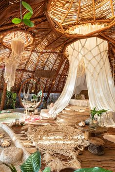 Get in touch with nature at Azulik Tulum, a luxury eco-resort for those willing to experience a distraction-free vacation. Unique Hotels, Best Hotels, The Places Youll Go, Places To Go, Architecture Organique, Beautiful Homes, Beautiful Places, Cool Tree Houses, Organic Architecture