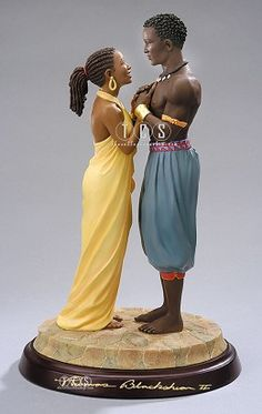 Ebony Visions The Proposal Signed #EbonyVisions #Art. Retired June 2006. The Proposal, retired with 5,420 pieces. Awed and enveloped in a tender moment, a radiant couple exchanges their shared feelings of commitment.