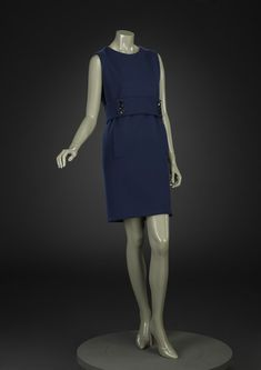 Norman Norell Day dress - American 1967. Wool jersey