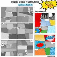 Comic Book templates comic Strip superhero by StudioKitsch Comic Book Yearbook, Comic Book Layout, Comic Books, Yearbook Class, Yearbook Theme, Yearbook Template, Yearbook Layouts, Yearbook Ideas, Yearbook Design