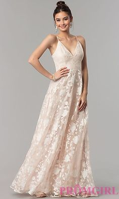 Print Organza Long V-Neck Prom Dress in Blush Pink Animal Print Prom Dresses  6484722270b2
