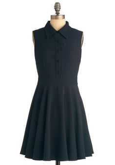 9.) Your top three Modcloth dresses for success  -  A dark colored dress that is professional when meeting with superiors, but still cute and very versatile.   #modcloth #makeitwork