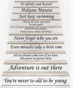 Stair Decals Disney Quotes Stairway Decals 13 Steps Quote
