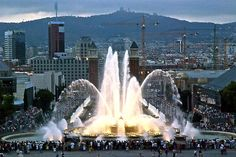 Magic Montjuic Fountains, Barcelona, Spain - This weeks Travel Pinspiration: http://www.ytravelblog.com/travel-pinspiration-places-in-barcelona/
