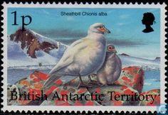 Postage Stamps - British Antarctic Territory - Antarctic birds