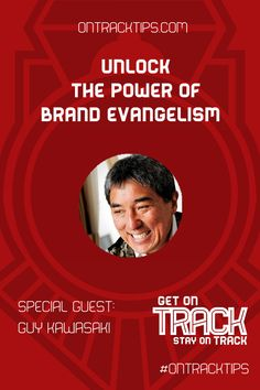 "This week we have an Exclusive Special Episode here at On Track Tips. http://jtw.bz/GuyHOA  Our distinguished guest, Guy Kawasaki  is stopping by to talk to us about ""Brand Evangelism""  We are going to discuss things like: ⇒ How to inspire your customers to become Evangelists ⇒ How to equip your evangelists with the correct information for maximum impact in your marketing ⇒ What it takes to become a paid evangelist or Chief Evangelist  http://jtw.bz/GuyHOA"