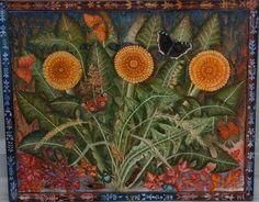 Sophie Grandval DANDELIONS Oil on canvas: 44x54cm / nice signs ...