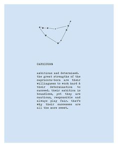 Capricorn zodiac sign poster constellation art by Riverwaystudios