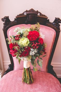 Bouquet Flowers Bride Bridal Quirky Red Outdoor Multicultural Chinese Tea Ceremony Wedding  http://www.bgproonline.com/