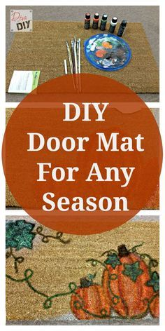 Make your own DIY door mats for any season at a fraction of the cost with this tutorial