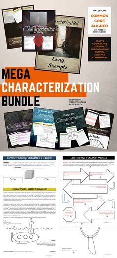 "This bundle consists of 15+ multi-lesson activities to get your students involved in analyzing one of the key literary elements: characterization. In fact, all other elements and techniques generally revolve around characterization, so by working with your students to analyze character, they will also be exposed to these other devices. This bundle is divided into two sections: ""Series Activities"" and ""Characterization Quick-picks."" $9.99"
