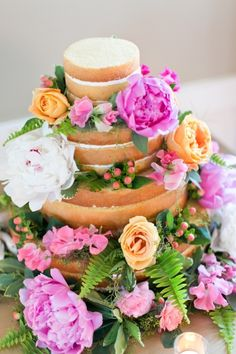 Bold & floral: http://www.stylemepretty.com/2015/04/08/20-of-our-favorite-naked-cakes/