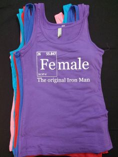 Tank or Tee Shirt  FEMALE Iron ELEMENTS  by TheFitnessTeeCo