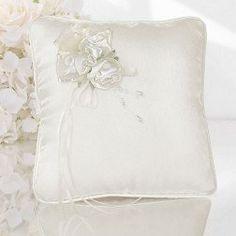 Cuscini per cuscini per fedi nuziali con fiocco in nastro Mr /& Mrs Satin