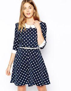 Yumi   Yumi Polka Dot Dress at ASOS