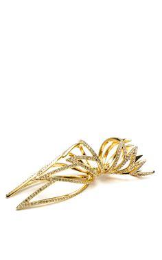 Pave Wing Open Work Hinged Ring by Eddie Borgo for Preorder on Moda Operandi