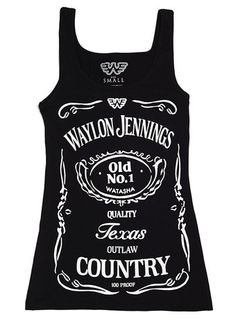 Waylon Jennings Watasha Womens Tank Top - Waylon Jennings Merch Co.