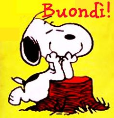 Snoopy Love, Charlie Brown And Snoopy, Good Morning Sunshine, Good Morning Good Night, Italian Memes, Old Cartoons, Emoticon, Bedtime, Winnie The Pooh