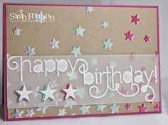 stampin up starry cards | Stampin' Sarah!: Dazzling Diamonds and Stars for a Happy Swirly ...