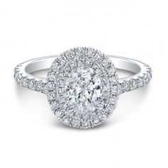 White Gold The One Oval Diamond Halo Engagement Ring