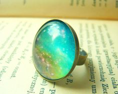 Retro Space Galaxy Ring