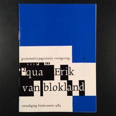 "Herb Lubalin Study Center on Instagram: ""Graduation invitation booklet by Erik van Blokland (@letterror), 1989"""