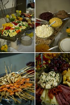 Yellow and Gray Airplane Baby Shower - everything in this spread looks delicious!