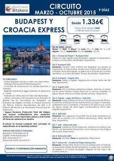HUNGRIA: Budapest y Croacia Express desde 1.336€ + tasas ultimo minuto - http://zocotours.com/hungria-budapest-y-croacia-express-desde-1-336e-tasas-ultimo-minuto-2/