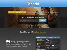 #dpadd Homepage by Terra Spitzner #ui #games