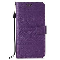 Cards Holder Stand Flip Embossing Leather Wallet Case Cover For Samsung Galaxy