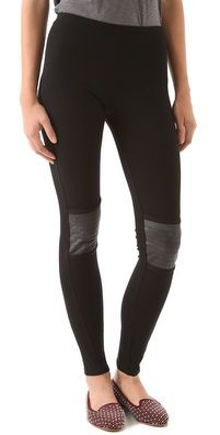 So Low Moto Leggings with Faux Leather Patches