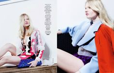 Techno Color: Eleonora Baumann By Billy Nava For Madame Figaro 29th August 2014
