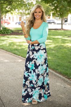 What You've Been Missing Floral Maxi Teal