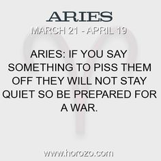 Fact about Aries: Aries: If you say something to piss them off they will... #aries, #ariesfact, #zodiac. More info here: https://www.horozo.com/blog/aries-if-you-say-something-to-piss-them-off-they-will/ Astrology dating site: https://www.horozo.com