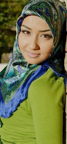 essra#hijab#style #valessie# green # blue #