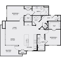 Pearl Midtown features spacious studio, one bedroom and two bedroom apartment floor plans with luxury amenities and stainless steel appliances. Two Bedroom Apartments, 2 Bedroom Apartment, One Bedroom, Two Bedroom Floor Plan, Entry Closet, Apartment Floor Plans, Faux Locs, New Homes, Flooring